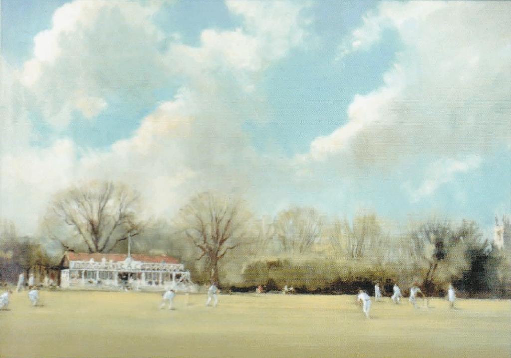Moseley Ashfield Cricket Club's Yardley Wood Road Home Circa 1951 Painted by C B Flinders